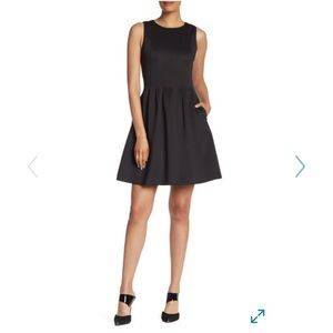 NWT Black fit and flare dress